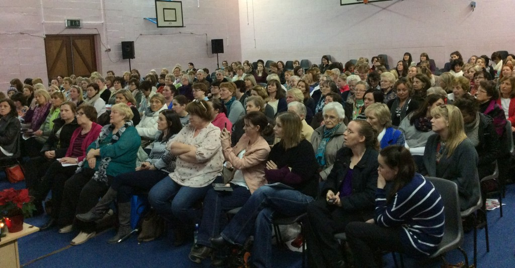 A crowd of over 200 people enjoy the Cookery Demonstration @ Coláiste Mhuire Johnstown on Thursday, 27th November 2014