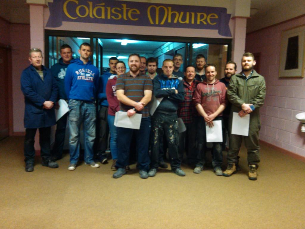 Arc Welding Night Class @ Coláiste Mhuire, Johnstown, Co Kilkenny (November 2014)
