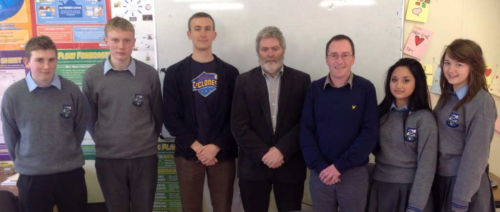 Guest Lecture on The Value of History by UCC's Dr David Fitzgerald & Prof Pádraig Ó Macháin with Mr Eamon Phelan & TY students @ Coláiste Mhuire Johnstown