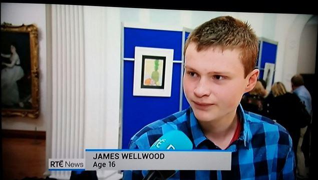 James Wellwood wins Texaco Childrens Art Awards 2016