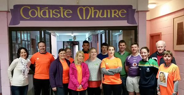 Management, Staff & Students @ Coláiste Mhuire Johnstown having completed Cycle Against Suicide (May 2015)