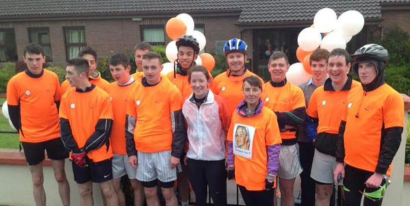 Staff & Students from Coláiste Mhuire Johnstown who completed the Cycle Against Suicide (May 2015)