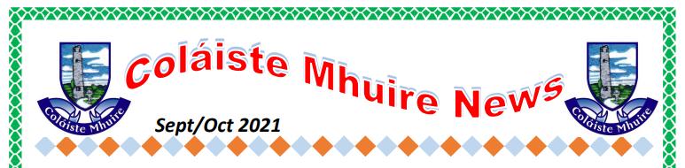 Coláiste Mhuire Newsletter Sept-Oct 2021